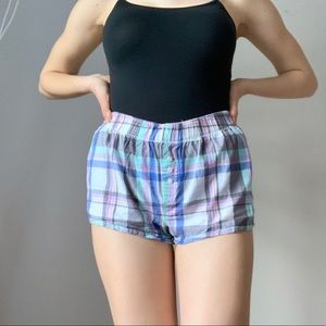 Plaid Sleep Shorts